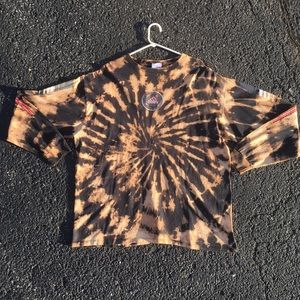 Vintage Tie Dye ADIDAS Long Sleeve Tshirt Size XXL